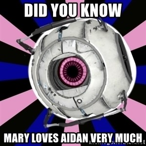 """""""Did you know"""" Fun Fact sphere  - did you know mary loves aidan very much"""