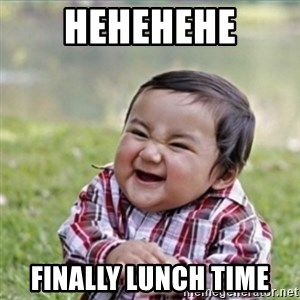 evil plan kid - hehehehe finally lunch time