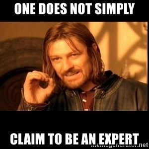 one does not  - One does not simply Claim to be an expert