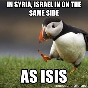 Unpopular Opinion Puffin - In Syria, Israel in on the same side as ISIS