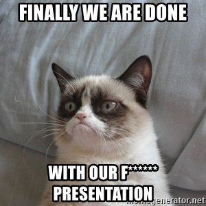 moody cat - finally we are done with our f****** presentation