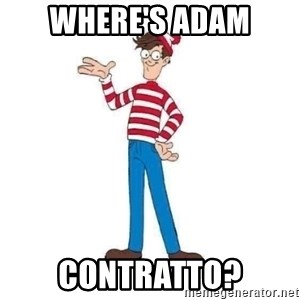 Where's Waldo - Where's Adam Contratto?