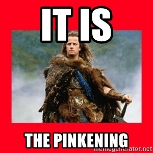 Highlander - IT IS THE PINKENING