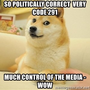 so doge - so politically correct  very code 291 much control of the media - wow
