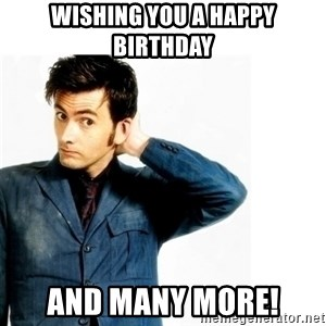 Doctor Who - Wishing you a Happy Birthday and many more!