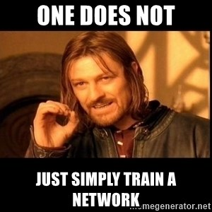 one does not  - one does not just simply train a network