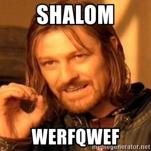 One Does Not Simply - shalom werfqwef