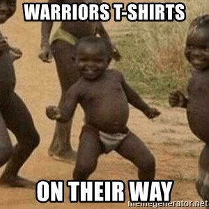 Success African Kid - Warriors T-Shirts On their Way