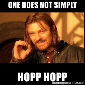 one does not  - ONE DOES NOT SIMPLY HOPP HOPP