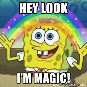 Bob esponja imaginacion - hey look i'm magic!