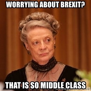 Dowager Countess of Grantham - Worrying about Brexit? That is so middle class