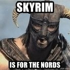 Skyrim Meme Generator - skyrim is for the nords