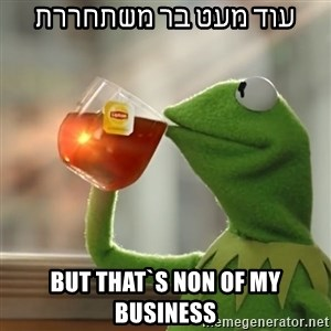Kermit The Frog Drinking Tea - עוד מעט בר משתחררת but that`s non of my business