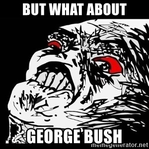 Rage Face - but what about george bush