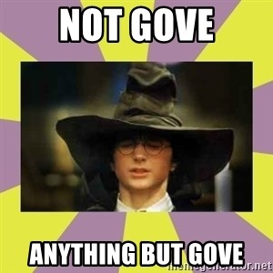 Harry Potter Sorting Hat - Not Gove Anything but Gove