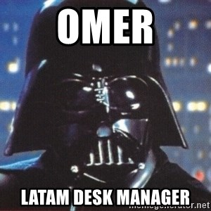 Darth Vader - Omer Latam desk manager