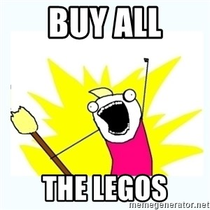 All the things - buy all the legos