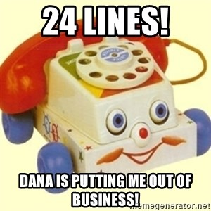 Sinister Phone - 24 Lines!  Dana is putting me out of business!