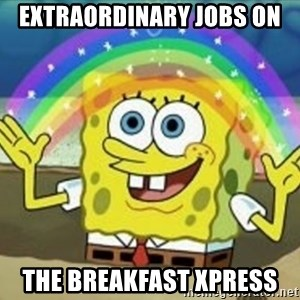 Bob esponja imaginacion - extraordinary jobs on The breakfast Xpress
