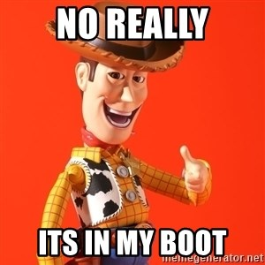 Perv Woody - no really its in my boot