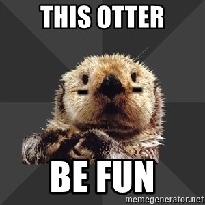 Roller Derby Otter - This otter be fun