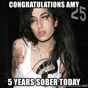 Amy Winehouse - congratulations amy 5 years sober today