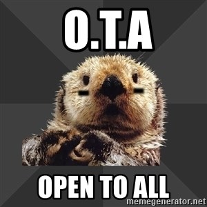 Roller Derby Otter -  O.T.A Open To All