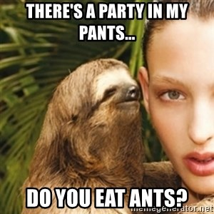 sexy sloth - There's a party in my pants... Do you eat ants?