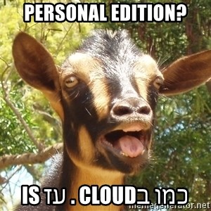 Illogical Goat - Personal Edition? כמו בcloud . עז is