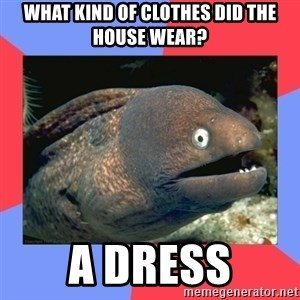 Bad Joke Eels - What kind of clothes did the house wear? A dress