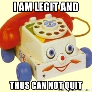 Sinister Phone - i am legit and thus CAN NOT QUIT