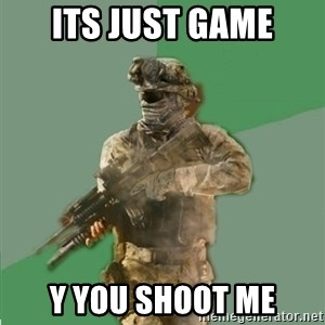 philosoraptor call of duty - ITS JUST GAME Y YOU SHOOT ME
