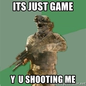 philosoraptor call of duty - ITS JUST GAME  Y  U SHOOTING ME