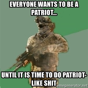 philosoraptor call of duty - Everyone wants to be a patriot... until it is time to do patriot-like shit