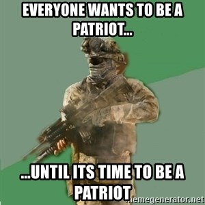 philosoraptor call of duty - everyone wants to be a patriot... ...until its time to be a patriot