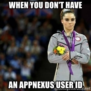 unimpressed McKayla Maroney 2 - When You don't have an Appnexus user id