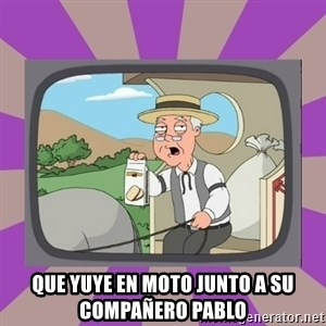 Pepperidge Farm Remembers FG -  que yuye en moto junto a su compañero pablo