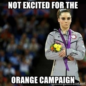 unimpressed McKayla Maroney 2 - Not Excited for the Orange Campaign