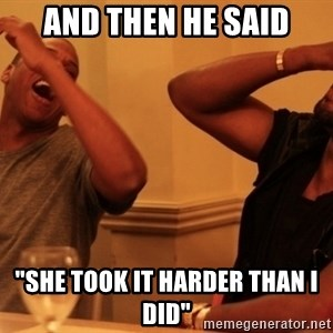 """Jay-Z & Kanye Laughing - And then he said """"She took it harder than I did"""""""