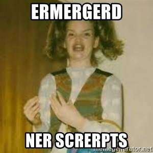 ermergerd girl  - ERMERGERD NER SCRERPTS