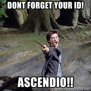 Pissed off Harry - Dont forget your ID! Ascendio!!