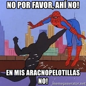 crotch punch spiderman - No por favor, ahí no! En mis aracnopelotillas no!
