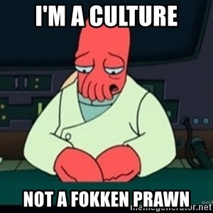 Sad Zoidberg - i'm a culture not a fokken prawn
