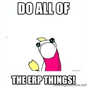 sad do all the things - do all of the erp things!
