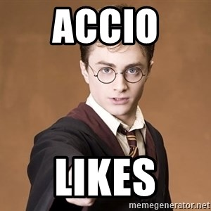 Harry Potter spell - accio  likes