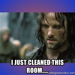 but it is not this day -  I just cleaned this room.....