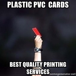 red card asshole - Plastic PVC  Cards Best Quality Printing Services