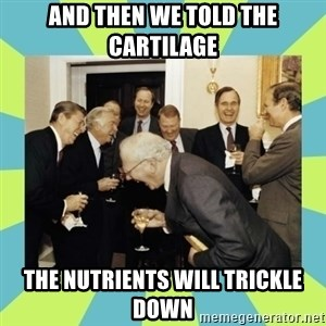 reagan white house laughing - And then we told the cartilage the nutrients will trickle down