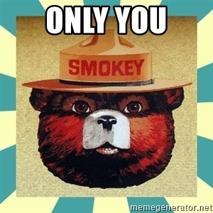 Smokey the Bear - only you