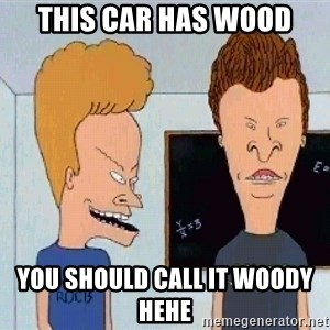 Beavis and butthead - This car has wood You should call it woody hehe
